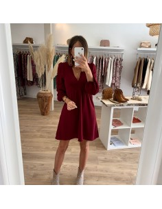 Robe bordeaux Hermeline