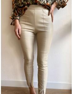 Pantalon legging beige Lanah