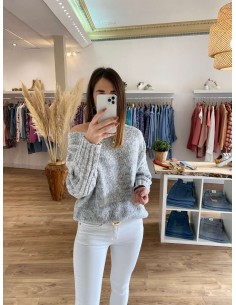 Pull gris loose Estavan