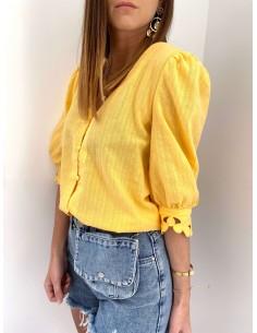 Blouse jaune Célyan